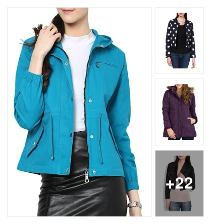 Jacket collection. Online shopping look by anitha