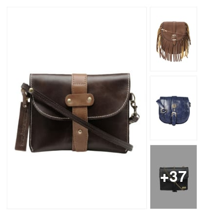 #Leather Look》》 Slingbags. Online shopping look by Priyanka