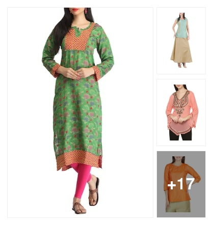 Festival kurti collection . Online shopping look by Savita