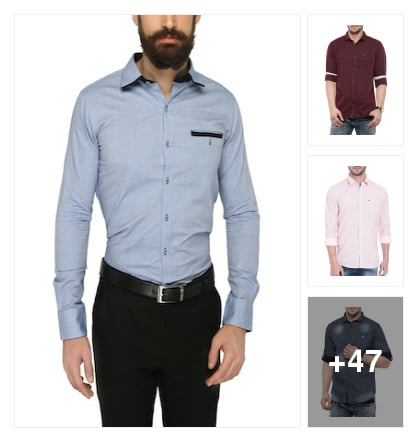 Formal Shirts For Men. Online shopping look by $ Sai Prudhvi $