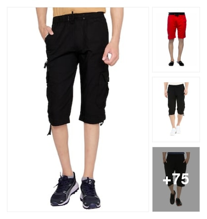 Shorts For Men. Online shopping look by Pooja