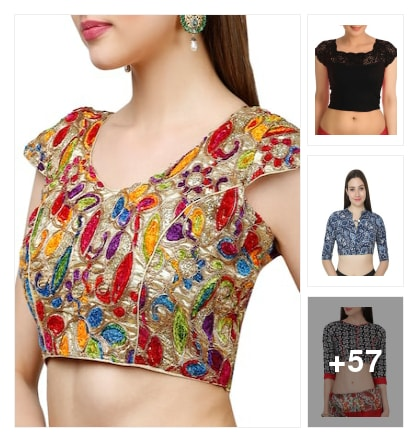 quality blouses. Online shopping look by manveda