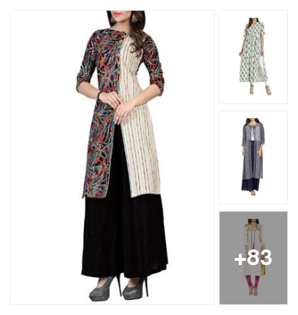 Todayz trending different looking kurtas. Online shopping look by Div