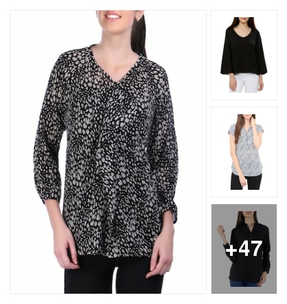 V neck tops. Online shopping look by Teju