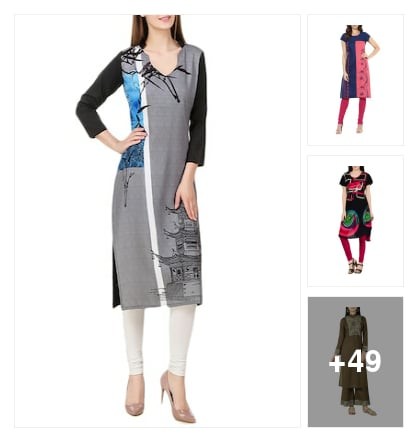 atractive kurtis. Online shopping look by Subha