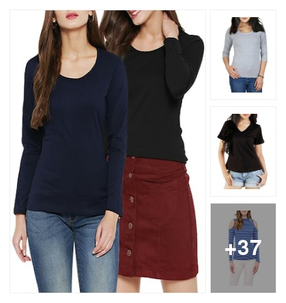 New Tees for Girls. Online shopping look by deepa