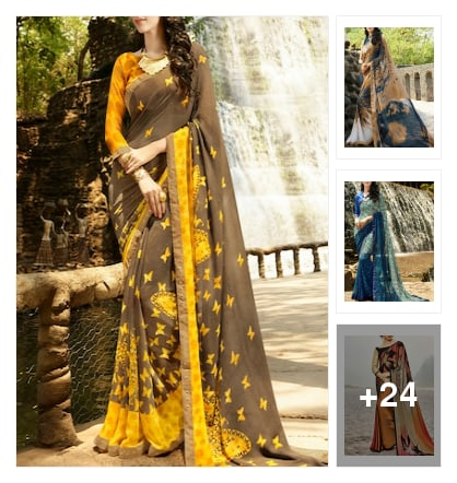 Shailly printed sarees. Online shopping look by sunitha