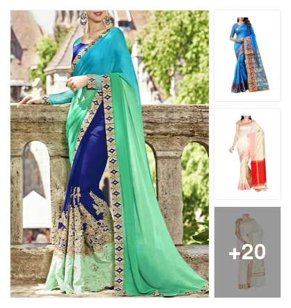 atractive sarees. Online shopping look by Subha