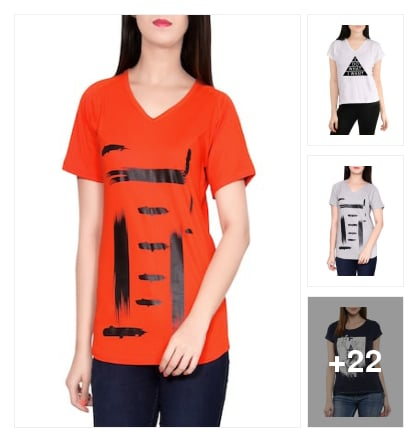 atractive tees. Online shopping look by Subha