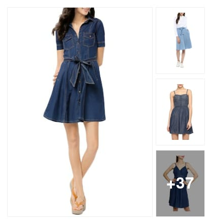 Beautiful Denim Dresses for everyday . Online shopping look by Pankh
