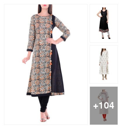 a-line kurtas. Online shopping look by Kumar