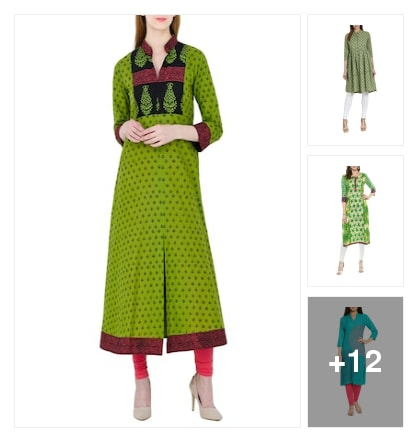 Green Kurtas. Online shopping look by saathvik