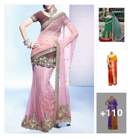 COLORFUL MAGIC SAREES. Online shopping look by avanthaka