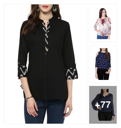 NICE TOPS FOR LADIES. Online shopping look by narayan