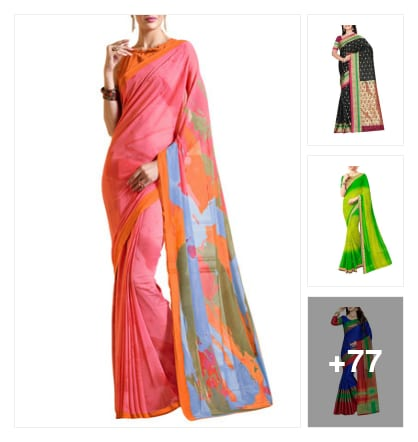 COLORFUL SAREES. Online shopping look by narayan
