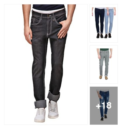Distressed jeans. Online shopping look by Savita