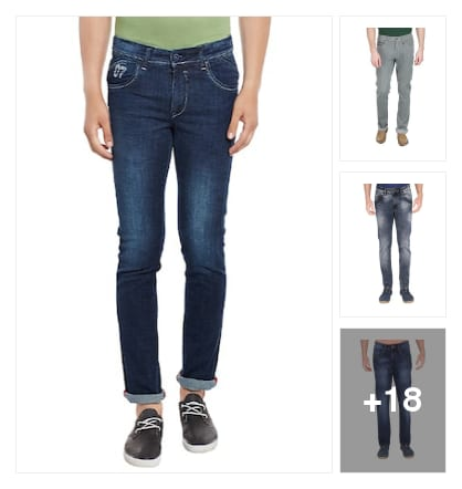 latest jeans. Online shopping look by Joyful