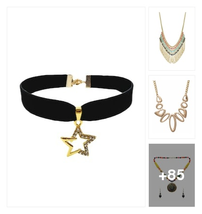 DAZLING NECKPIECES. Online shopping look by sunil