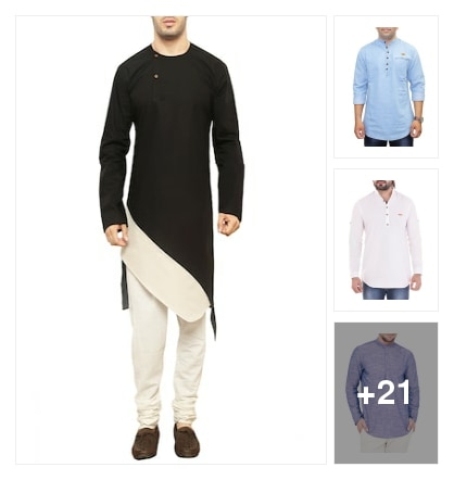Kurtas for fashion men . Online shopping look by Supreme