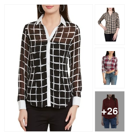 Add some checks to your wardrobe.. Online shopping look by Ayu
