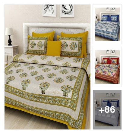 Bedsheet Collotions By Rajasthan Decor. Online shopping look by Pooja