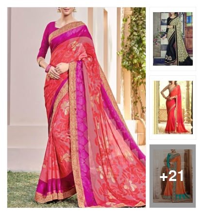 Grand look sarees. Online shopping look by Krishna