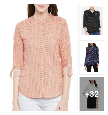 Trendiest shirts for college going girls . Online shopping look by Vijji