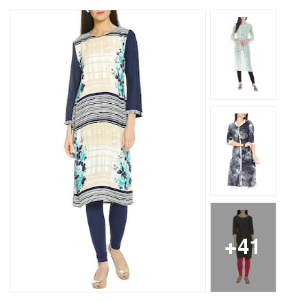 suitable kurtis. Online shopping look by rishi