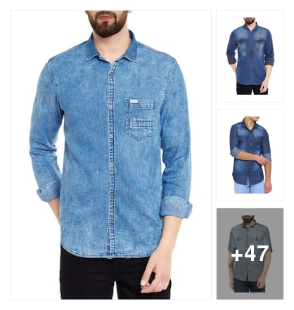Casual: Denim shirt . Online shopping look by sweta