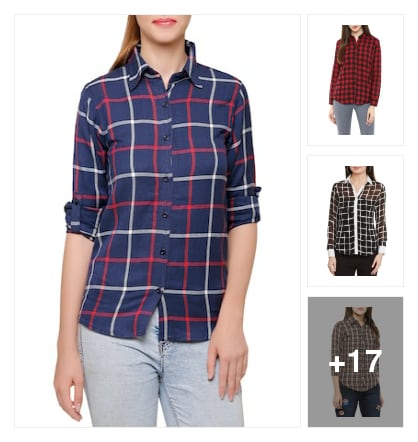 #checkedshirts. Online shopping look by Padma