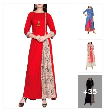 Mix and match these gorgeous kurtas. Online shopping look by Chandan