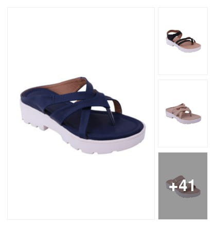 Right steps flat sandals. Online shopping look by Teju
