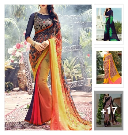 #sarees. Online shopping look by cebby