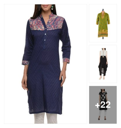 Self design kurtas. Online shopping look by Teju