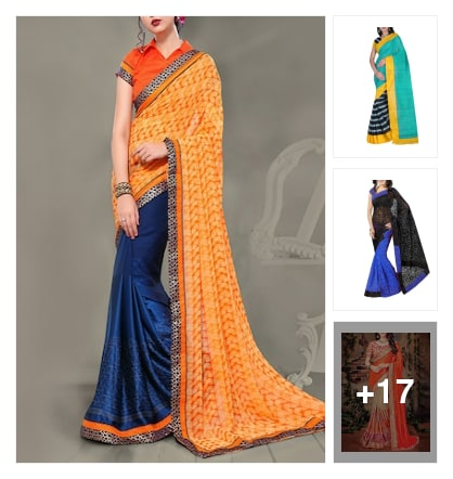 HALF AND HALF SAREES. Online shopping look by sanjana