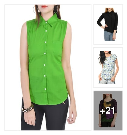RECOMENDED  TOPS  FOR  GIRLS. Online shopping look by Reethu
