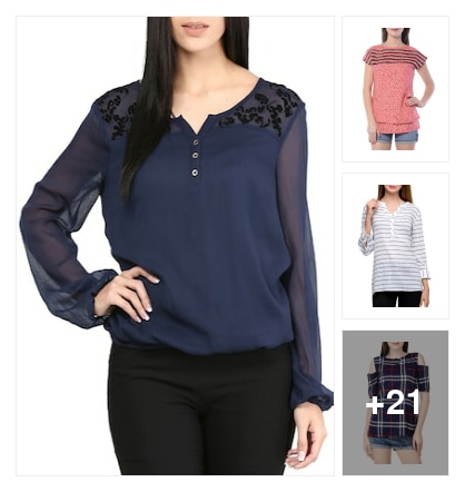 Cute  tops. Online shopping look by c.radhika