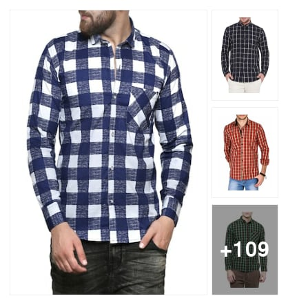 Checkered Shirts for Men Under 999. Online shopping look by kavita