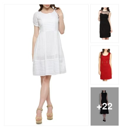 Stroll lavishly in these dresses. Online shopping look by Harika