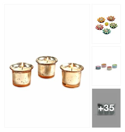 Make Your Diwali Bright-full - candles under 499. Online shopping look by kavita