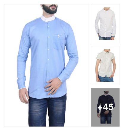 AWESOME COTTON SHIRTS FOR MEN. Online shopping look by cvenkataraghavendra