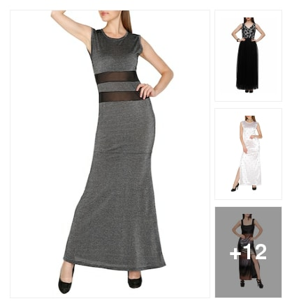 Party wear maxi. Online shopping look by vennila