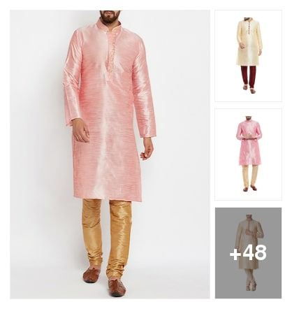 Men's ethnic wear sets under 1499. Online shopping look by Nikita
