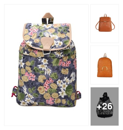 Backpacks. Online shopping look by keerthi