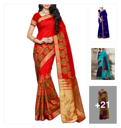 Nice  Sarees For Nice Lady . Online shopping look by AmarGupta
