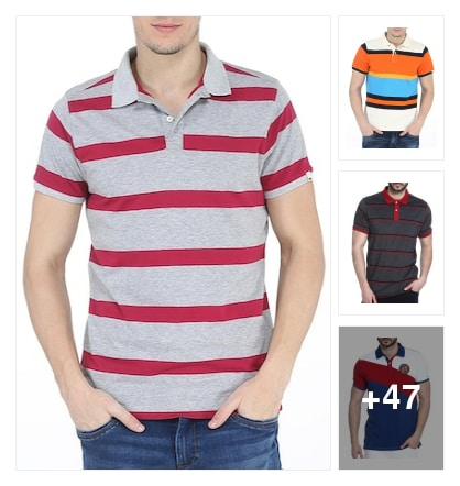 Basics T shirts for men. Online shopping look by vicky