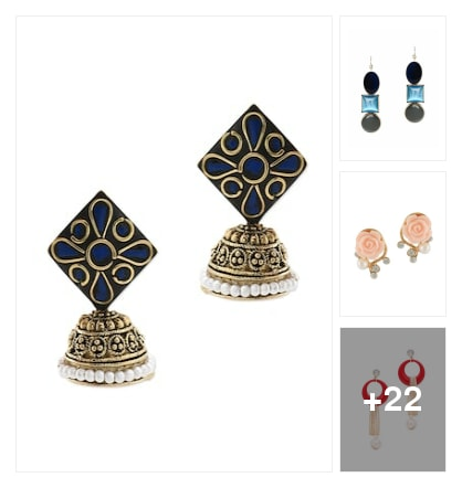 Beautiful earrings for festival . Online shopping look by Meeti Patel