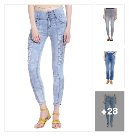 Latest jeans for girls. Online shopping look by ARJUN