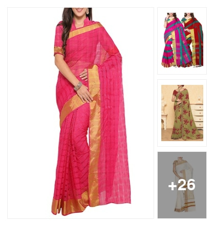 ethinic sarees. Online shopping look by Subha