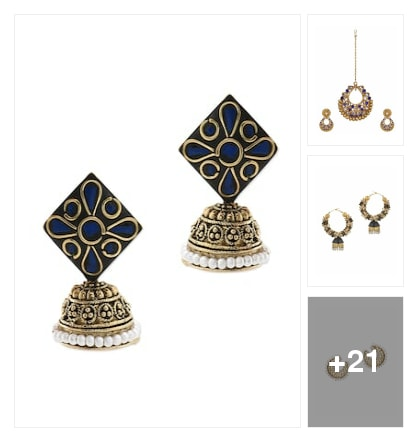 Ethnic earrings. Online shopping look by nikku.gupta512